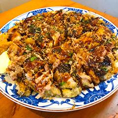 野菜タップリお好み焼き(ノニ茶葉入り)